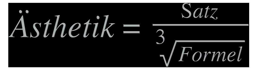 Formelsatz